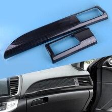DWCX Carbon Fiber Style Automobile Car Panel Vent Air Outlet Decoration Strip Trim Fit for Honda Accord 2014 2015 2016 2017