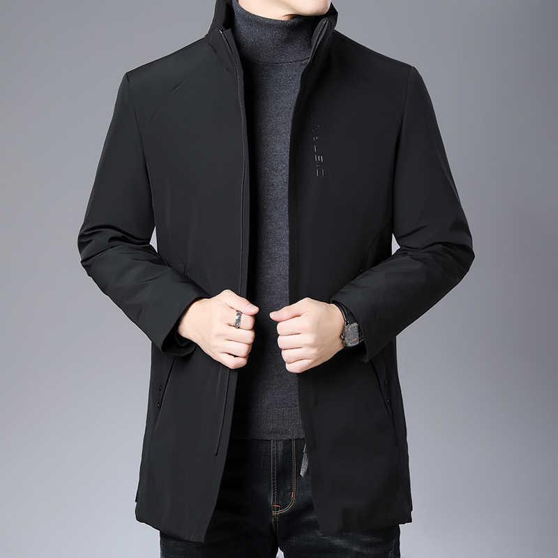 Высший сорт 2019 новые зимние модные брендовые пуховики мужские уличные пуховые пальто длинная теплая мужская одежда