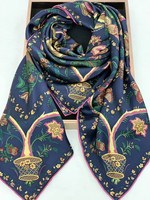 2020 Silk Scarf Cape Ladies New Brand 100% Pure Silk Satin Square Scarves Wraps Elegant Scarf Shawl 16MM THICK 140*140 cm #4192