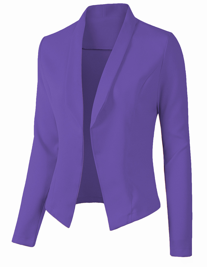 ZOGAA 2020 Slim Women Blazer Feminino Women Work Office Lady Suit Slim None Button Business Female Casual Blazers and Jackets