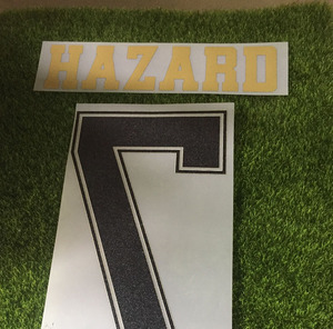 Высокое качество 2019-2020 #7 Hazard Nameset James Bale Modric Isco Серхио Рамос печать настроить любое имя номер железная футбольная нашивка