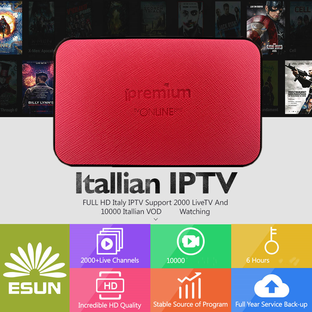 1 Year Lucky IPTV Box AVOV TVONLINE IPTV box Android Set top box Media player Italy IPTV UK IPTV Media player Set top box