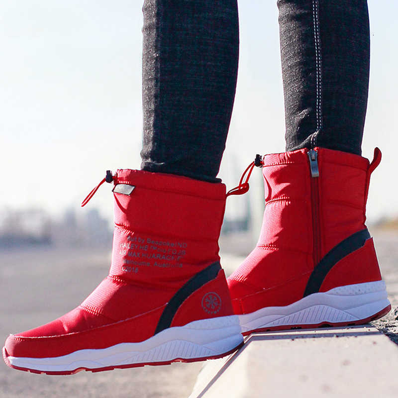 ผู้หญิงฤดูหนาวรองเท้ากันน้ำ Snow BOOTS ผู้หญิงหนาข้อเท้า Plush คุณภาพสูงฤดูหนาวรองเท้าผู้หญิงขนาด 36-44