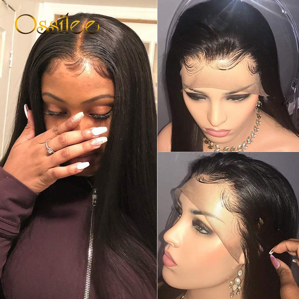 13x6 Lace Front Wigs Straight Brazilian Lace Front Human Hair Wigs Pre Plucked Human Hair Lace Wigs For Women 150% Density Remy