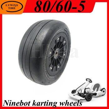 Neumático sin cámara de rueda 80/60-5 para Ninebot Mini Pro Karting, rueda delantera, rueda de Kart eléctrica para niños