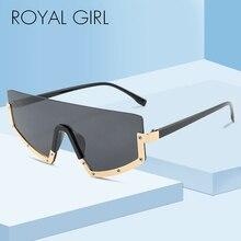 ROYAL GIRL Half Frame Oversized Sunglasses Ladies Men Brand Designer Trendy Cat