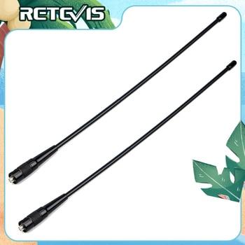2pcs RETEVIS RHD-771 SMA-F Walkie Talkie Antenna VHF UHF Dual Band 39cm For Kenwood Retevis RT5R TYT Baofeng UV 5R BF888S UV-82