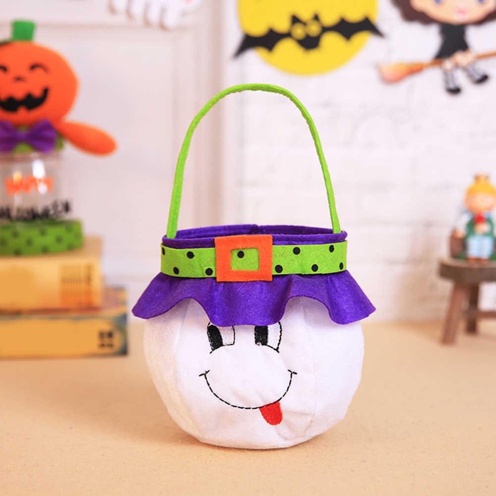 Juguetes de Halloween fantasma calabaza bruja vampiro bolsa de caramelos portátil cesta de cubo niños jugar bolsas truco o trato fiesta regalo bolsa