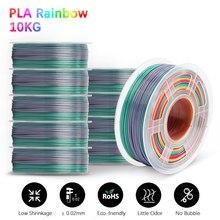 Rainbow PLA خيوط ثلاثية الأبعاد القلم البلاستيك 1.75 مللي متر 10 لفات عبوات انحناء غير سامة شحن سريع طابعة مقابض لتقوم بها بنفسك هدية
