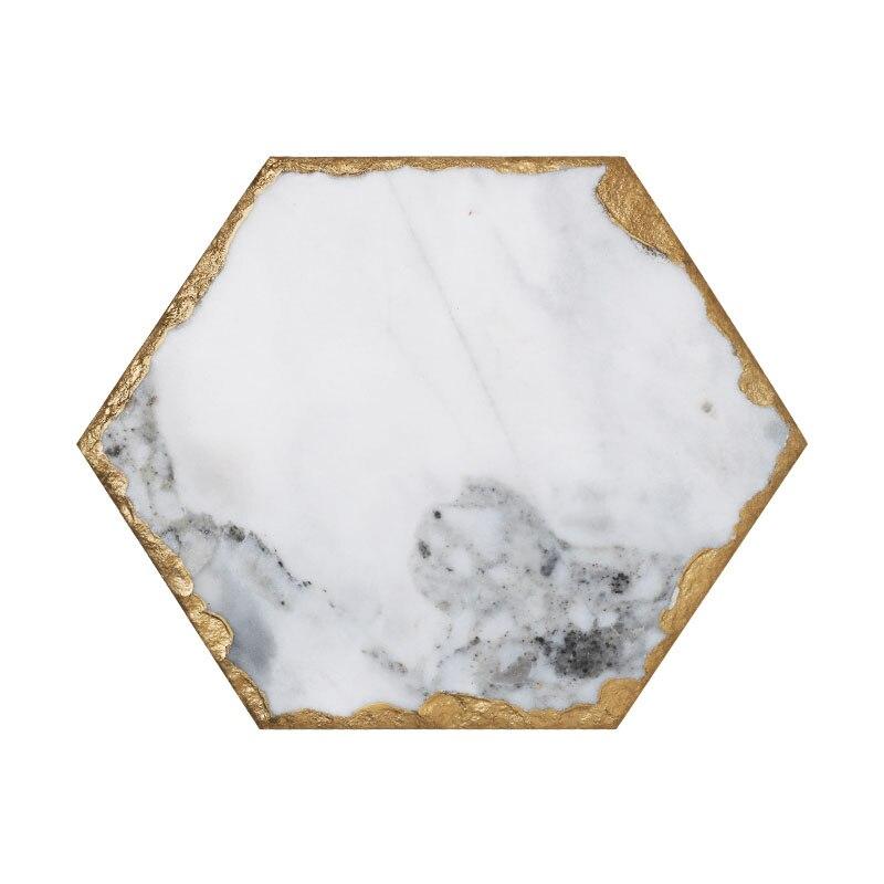Мраморный поднос для хранения JINSERTA, ретро-тарелка для ювелирных изделий, косметический Органайзер, контейнер для еды, поднос для чая, кофе, молока, подарки-5