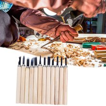 12 Pcs/Set Woodworking Diy Tools Hand Wood Carving Chisels Blade Tool Work Basic Detailed  Woodcut  Working Clay Wax Tool Set 6 pcs set hand carving tools chisel woodcut chip part costume for art knife seal cutting wood working tool free shipping