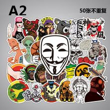 50 pcs Mixed Cartoon Toy Stickers for Car Styling Bike Motorcycle Phone Laptop Travel Luggage Cool Funny Sticker Bomb JDM Decals 300 pcs mix funny stickers for laptop skateboard luggage car styling bike jdm doodle decals home decor cool waterproof sticker