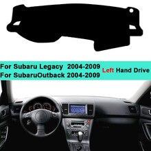 2 слоя авто внутренняя крышка для Subaru Legacy Outback 2004 2005 2006 2007 2008 2009 анти-скольжения мат приборной панели навес панель Dashmat