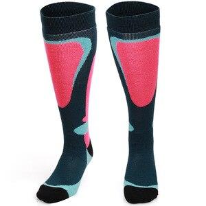 Image 5 - COPOZZ marka kayak çorap kış Snowboard spor çoraplar erkekler & kadınlar kalın sıcak bisiklet çorap nem emme yüksek elastik çorap