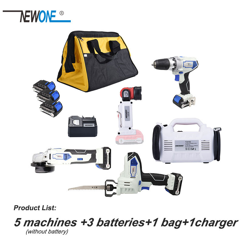 5Piece newone KEINSO 12 Volt Lithium Ion Cordless Power Combo Kit Power Tool Combination 5 Tool