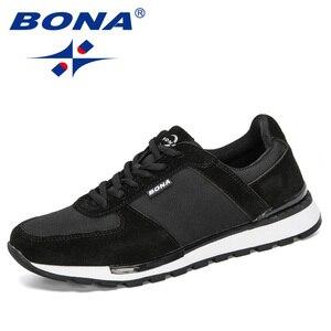 Image 3 - بونا 2020 جلد الغزال الرجال احذية الجري Zapatillas Hombre Deportiva رجل الدانتيل متابعة الركض أحذية رياضية الرجال أحذية رياضية مريحة