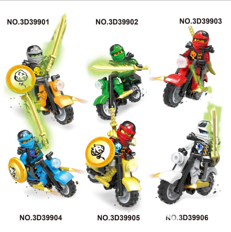 New 6pcs/set Mech Ninjagoed Figures Building Blocks Compatible With  Lepines Toy Bricks Education Toys For Children