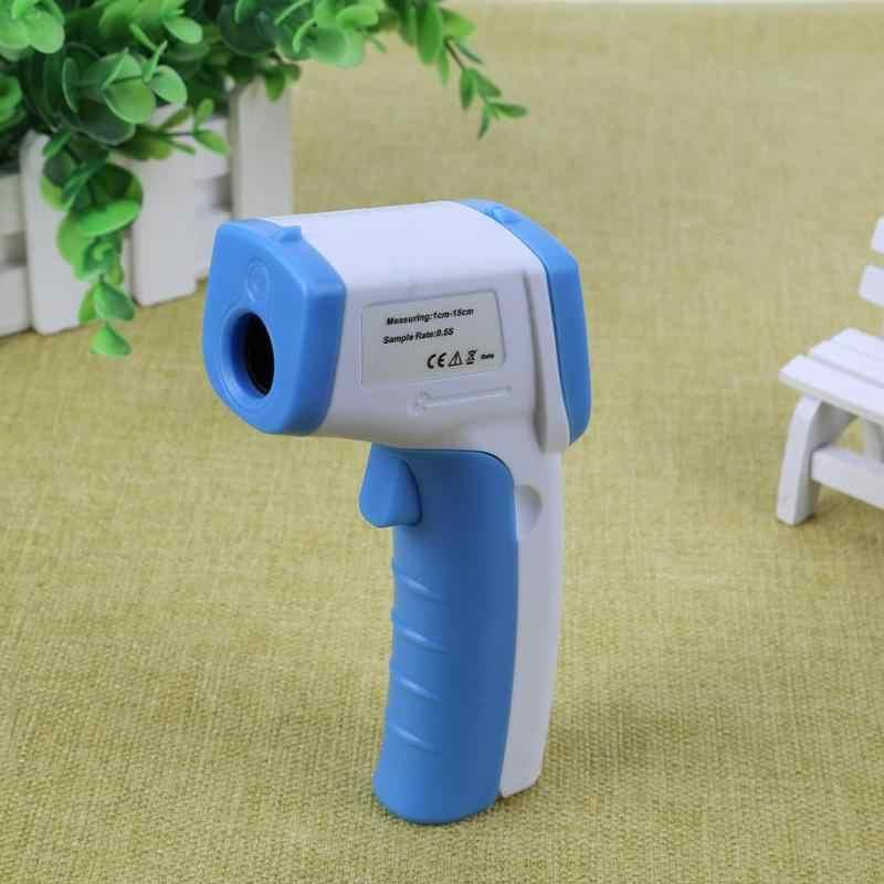 Termómetro de cuerpo portátil infrarrojo de mano sin contacto termómetro digital infrarrojo de frente para bebé adulto con retroiluminación LCD