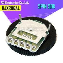 5 шт. двойной механизм настройки потенциометра B503 50 к 5Pin 16*2 мм циферблат потенциометра