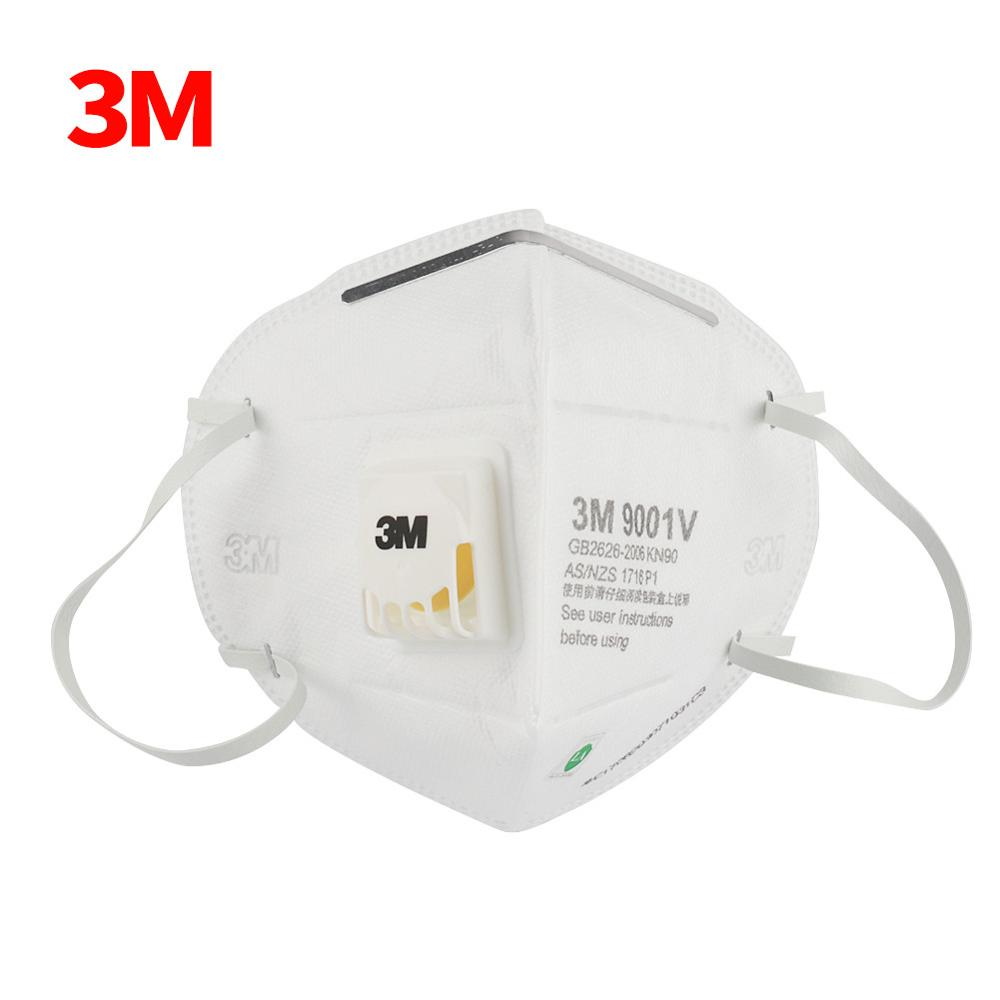 3M Masks 25pcs/box PM2.5 KN90 Ear Band Particulate Respirator Dust Mask With Cool Flow Valve Breathable Mask 9001V