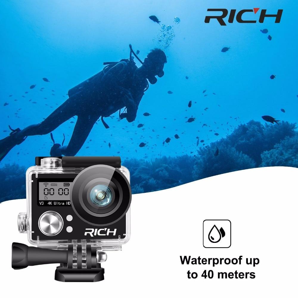V930R sportowa kamera akcji Ultra HD 4K WiFi 1080P 170D 2.0 calowy ekran wodoodporny kask rowerowy kamera Mini kamera wideo