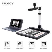 Aibecy X1000 USB2.0 Scanner Dual Camera Document Camera Scanner A3 Capture with LED OCR Video Recording Convert to PDF Format