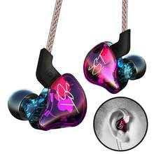 KZ-ZST Colorful HiFi Heavy Bass In Ear Earphone Headset HIFI Bass Noise Cancelling Earbuds With Mic(China)