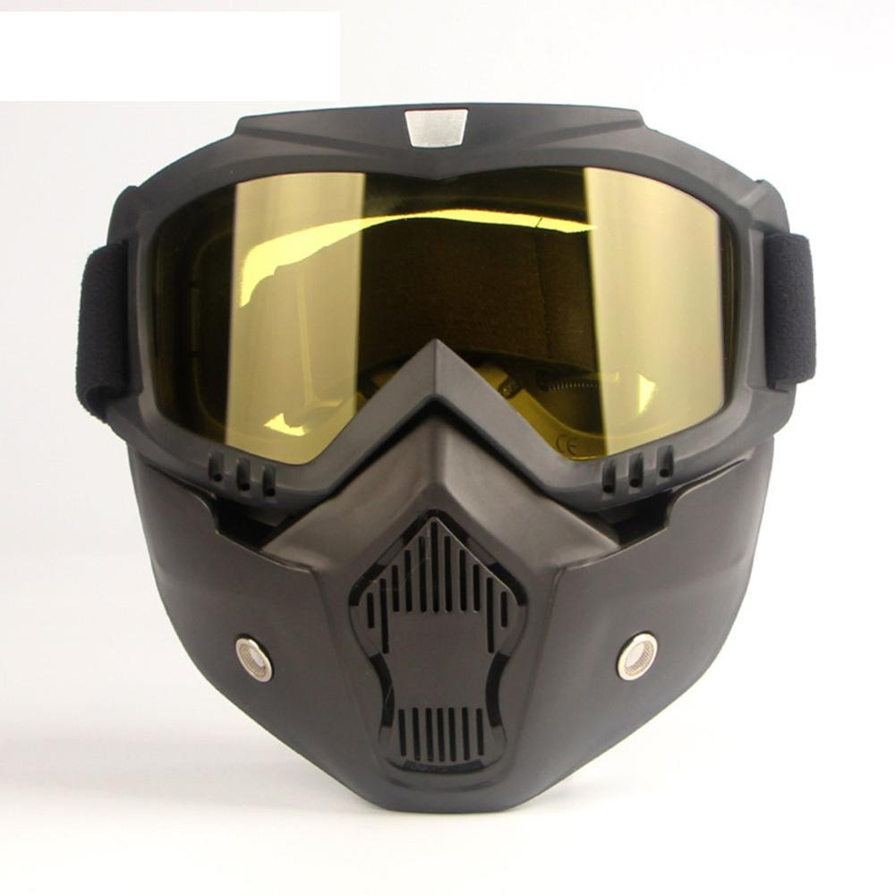 Men Women Detachable Wind Dust Proof Face Mask Motorcycle Helmet Filter Goggles Protective Eyewear Workplace Safety Supplies