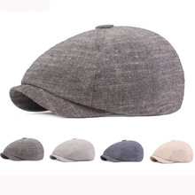 Ht3159 береты Весна Лето Хлопок Лен Кепка шляпа мужчины женщины