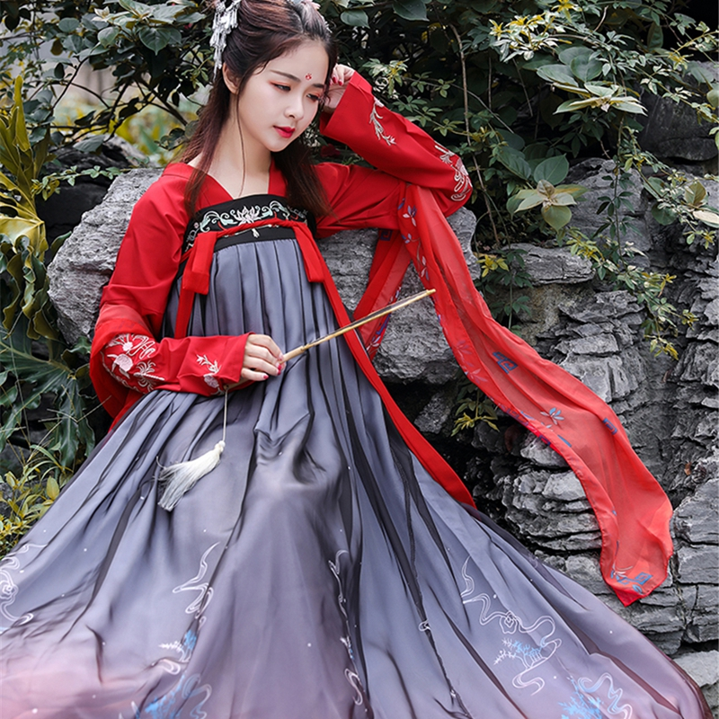 Ladies Hanfu Ancient Chinese Costume Dynasty Tang Suit Folk Dress For Women Princess Fairy Festival Outfits Dance Wear ханфу
