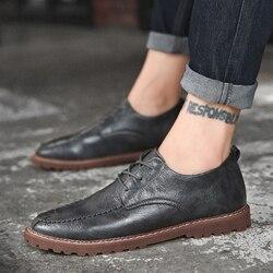 Tamanho grande 47 Homens Sapatos Casuais Marca De Luxo Genuíno couro de rendas até ao ar livre moda sapatos Confortáveis Sapatos Masculinos Zapatos Hombre