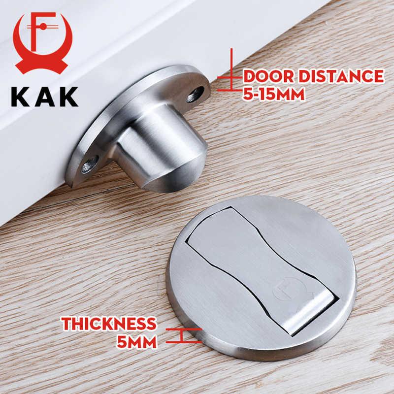 KAK المغناطيسي مثبت الباب 304 باب من الفولاذ المقاوم للصدأ سدادة خفية أصحاب الباب قبض الطابق مسمار خالية من الباب أثاث الأجهزة