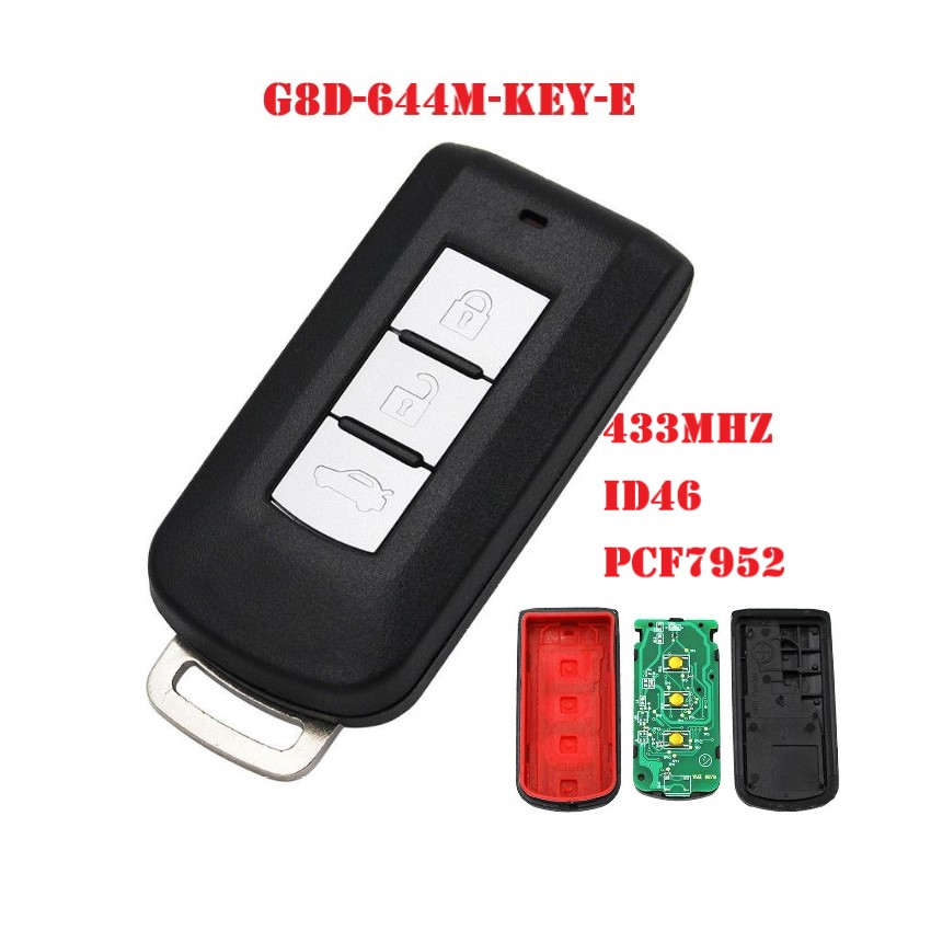 3 кнопки автомобиля дистанционного умный ключ 433 МГц pcf7952 для MITSUBISHI G8D 644M KEY E ASX Outlander Sport Pajero Shogun Montero Lancer RVR