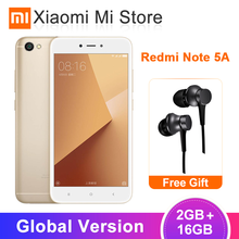 "Globale Version Xiaomi Redmi Hinweis 5A 2GB RAM 16GB ROM Handy Snapdragon 425 Quad Core 13.0MP Kamera 5,5 ""3080 mAh Batterie(China)"