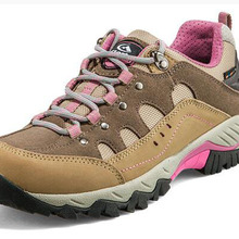 Women outdoor hiking shoes female non-slip genuine leather waterproof walking trekking TRAVEL moutai