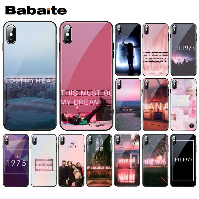 Babaite <font><b>The</b></font> <font><b>1975</b></font> Songs Tempered Glass Phone <font><b>Case</b></font> For <font><b>iphone</b></font> 11 Pro XS MAX XR 8 X 7 6S <font><b>6</b></font> Plus image