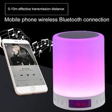 Six Light Color Night Light Novelty Blutooth Night Lamp with Speaker for Outdoor Activities LED Bedroom Light USB Charging