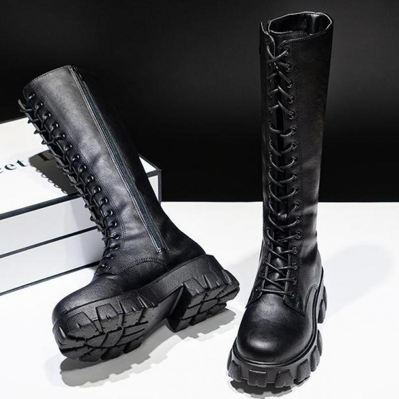 Sexy High Boots Knee high Pu Boots High Heels For Women Fashion Shoes 2020 Spring Autumn Booties Female Plus Size 35 43