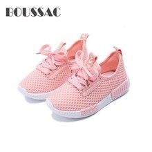 купить BOUSSAC Spring Autumn Kids Shoes 2017 Fashion Mesh Casual Children Sneakers For Boy Girl Toddler Baby Breathable Sport Shoe дешево