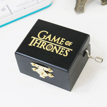Wood Movie Sailor Moon Eight-tone box Game of Thrones Hand Crank Musical Box Model Birthday Gift Collectible