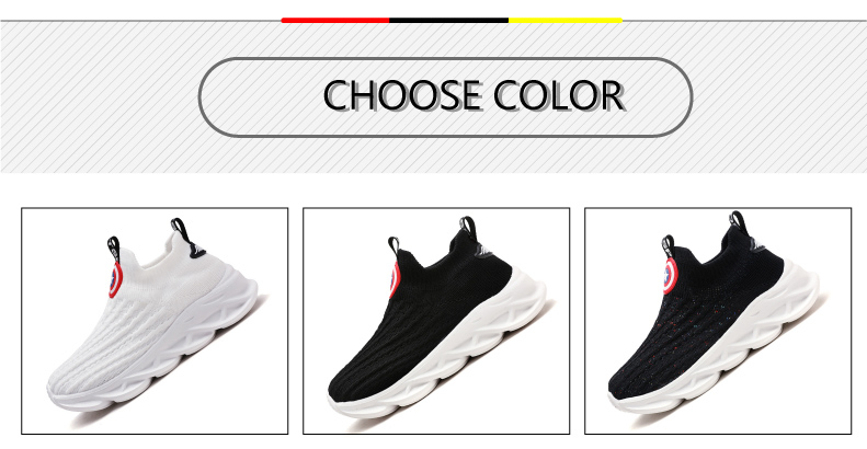 2019 Autumn boys sneakers kids shoes girls travel casual sports Socks shoes Mesh children's breathable running shoes (3)