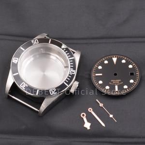Image 1 - 41 Mm Heren Horloges Case Dial Handen Waterdicht 316L S Staal Fit Eta 2836/2824 Miyota8215 821A Beweging Voor Mens Mechanica