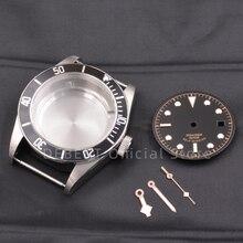 41mm męskie zegarki na rękę Case dial ręce wodoodporna stal 316L pasuje ETA 2836/2824 Miyota8215 821A ruch dla mężczyzn mechanica