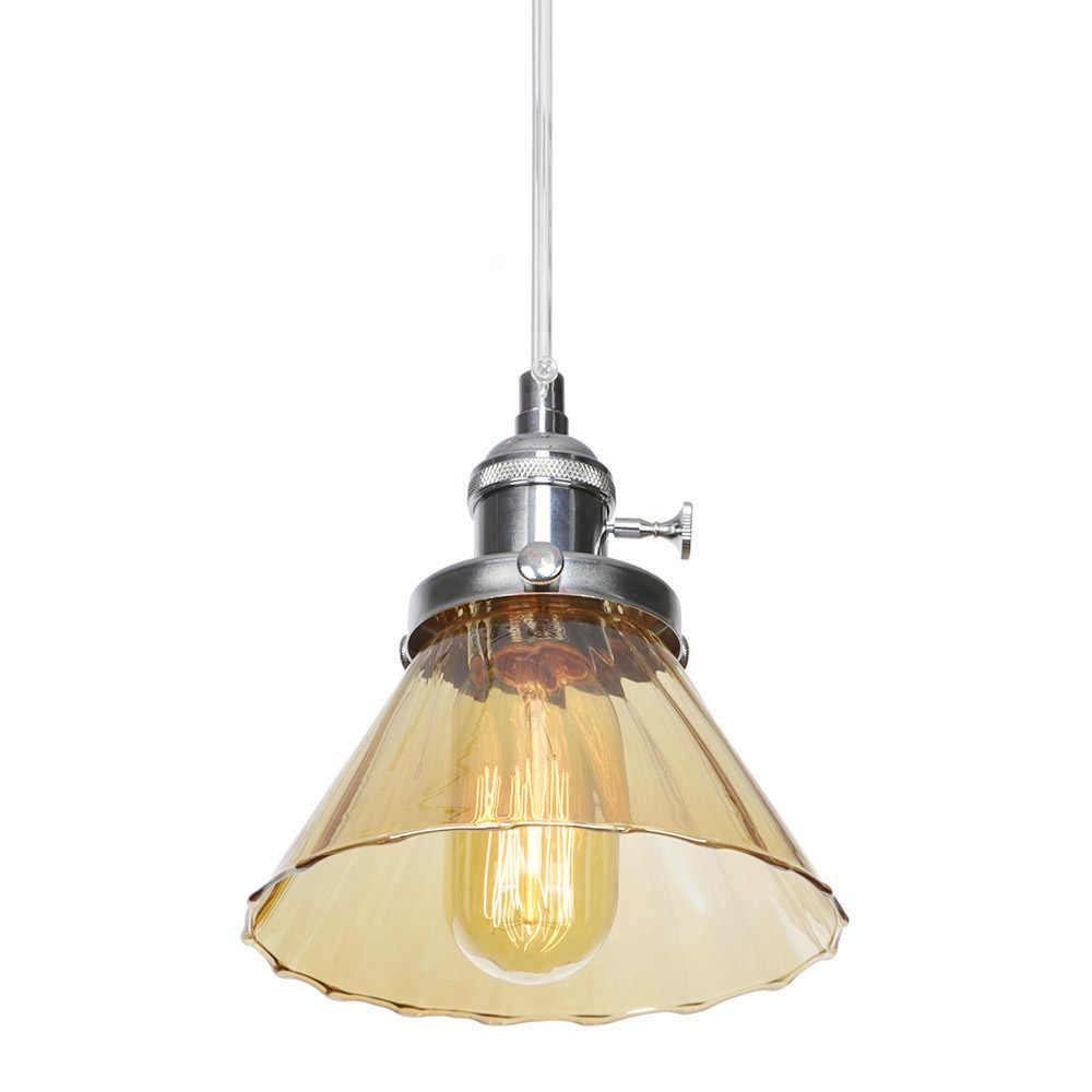 אמריקאי סגנון להתאים תליון אורות LED אדיסון רטרו תליית מנורת לופט דקור זכוכית מתג אוכל חדר בית תאורת Luminaire