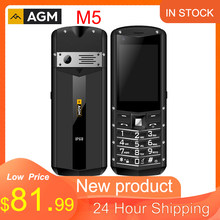 Stokta AGM M5 basitleştirilmiş Android OS 4G LTE tipi C dokunmatik ekran IP68 su geçirmez sağlam cep telefonu 2.8 inç 2500mAH telefon