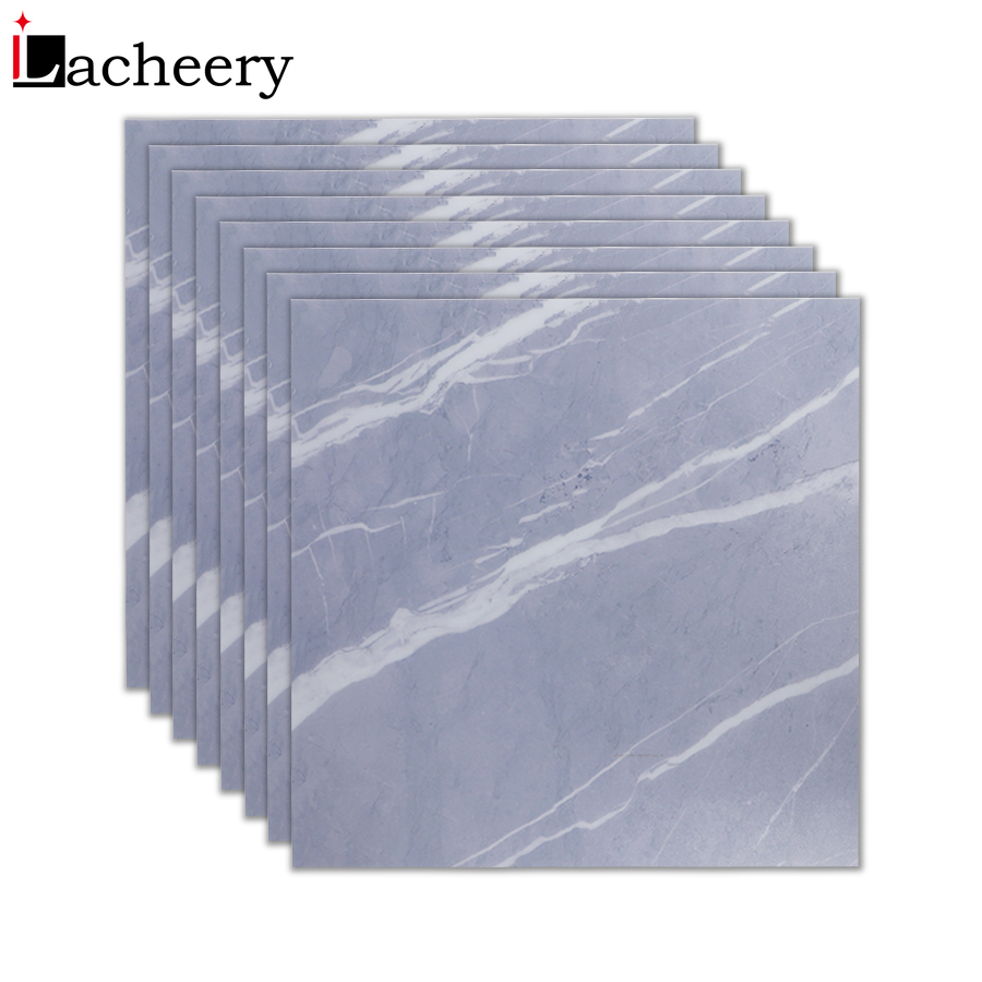 Modern Waterproof Bathroom Floor Tile Sticker Adhesive PVC Marble Wallpaper Decal Floor Stickers Non-Slip Home Entrance Decor