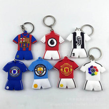 Voetbal Competities Badge Sleutelhanger Voetbal Club Logo liverpool Chelsea PVC dubbelzijdig hanger Sleutelhanger Teams Collection Fans Gift(China)