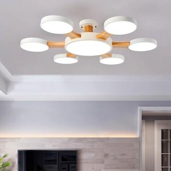 Nordic modern living room LED ceiling lamp simple round bedroom study corridor hotel lighting
