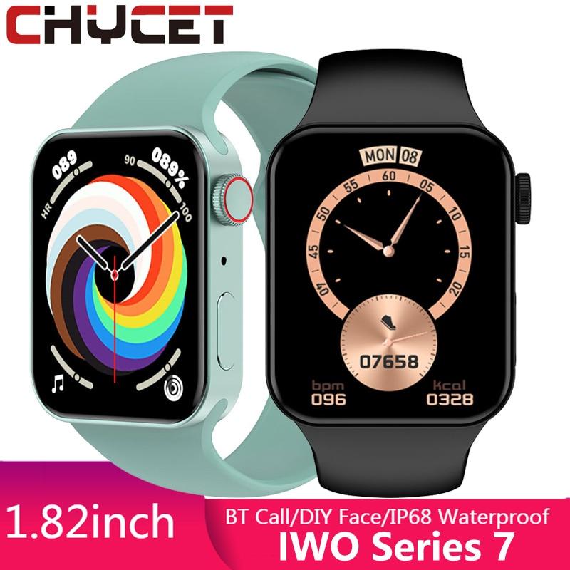 CHYCET Original IWO Series 7 Smart Watch Men 1.82'' Bluetooth Call Smartwatch...