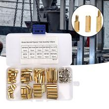 120pcs/set M3 Male Female Hex Brass Standoffs Spacer  Board Screws Nut Assortment Kit